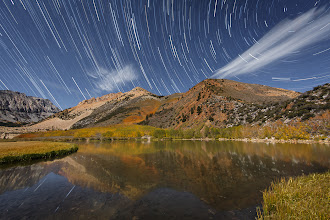 Photo: Star Trails Over Fall Colors