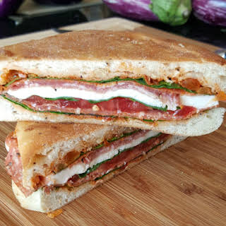 #WeekdaySupper Italian Pressed Sandwich.