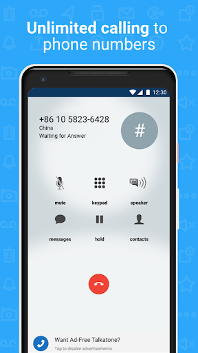 Talkatone: Free Texts, Calls & Phone Number 6.4.12 Screenshots 6