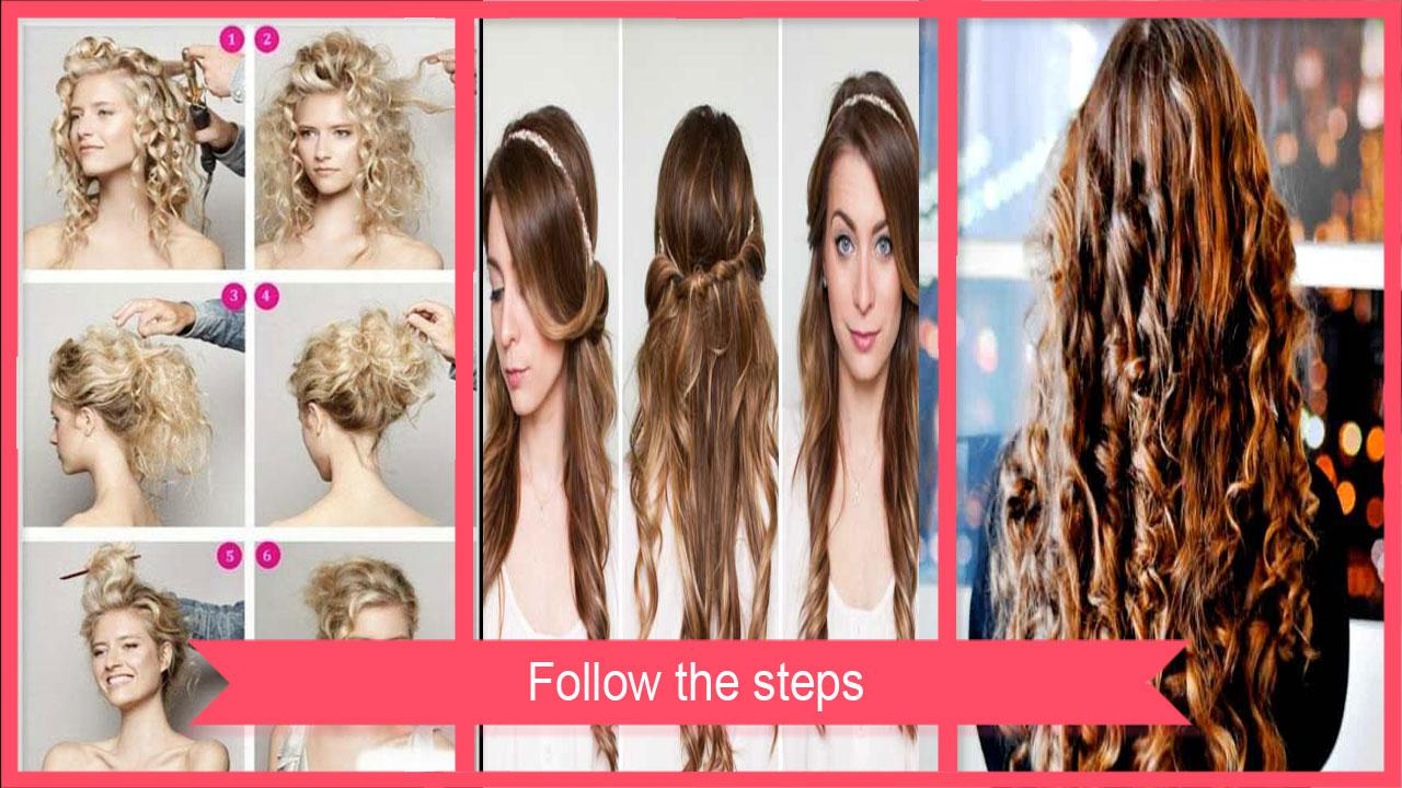 Curly hairstyles tutorials - Curly Hairstyle Tutorial Screenshot