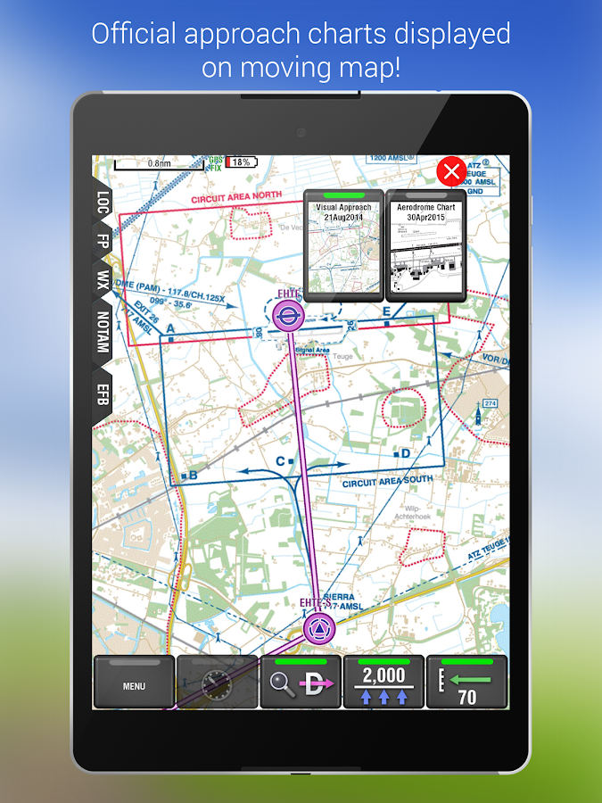 PocketFMS EasyVFR for Pilots- screenshot