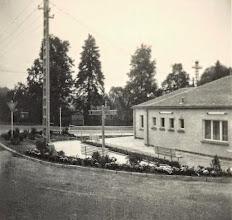 Photo: Wünschendorf im Erzgebirge   Buswendeplatz   Platz der Jugend ca. 1970   Foto: Reiner Teichler