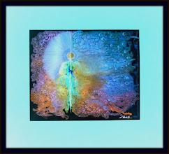 Photo: AWAKENING ~ РОЗКВІТ Luba Bilash original 18.5 x 16.5 in. matted mixed media print n/a