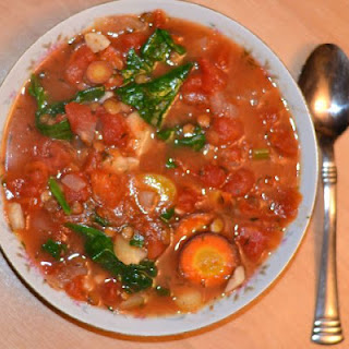 Spinach and Lentil Vegetable Soup