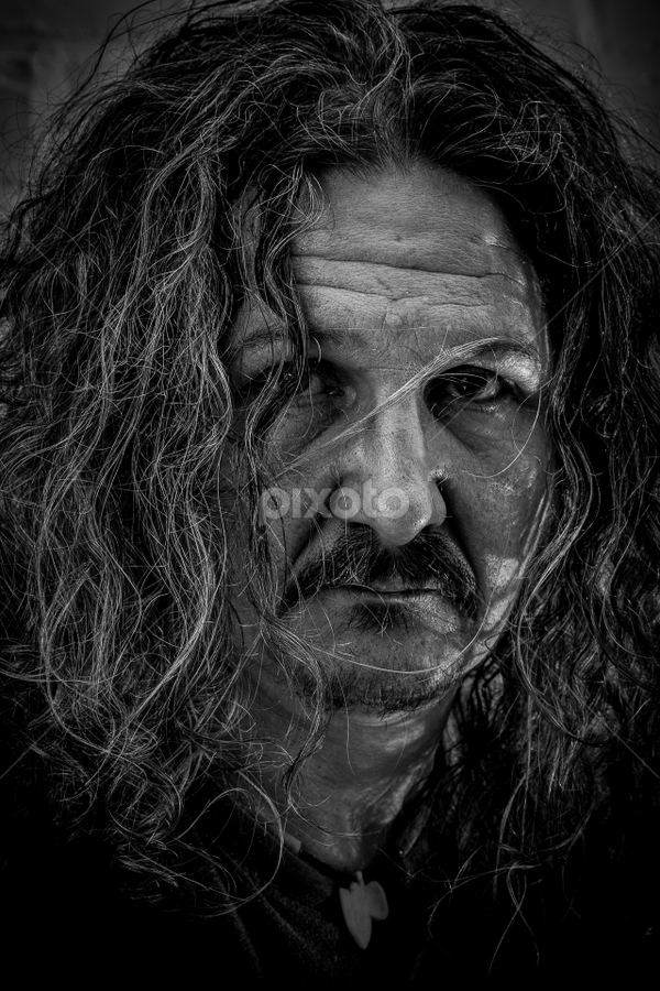 Selfportret by Wim Moons - Black & White Portraits & People