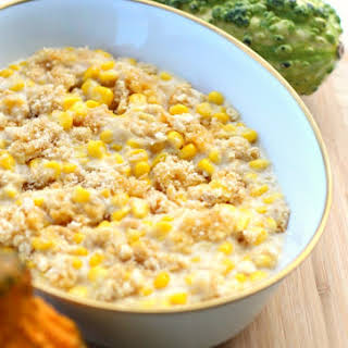 Make Ahead Crockpot Corn Casserole.