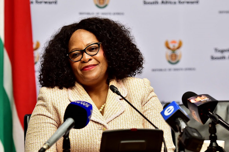 Minister of Communications Nomvula Mokonyane. Picture: JAIRUS MMUTLE