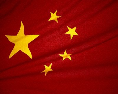 Flag of China. Picture:  SCREENGRAB VIA YOUTUBE