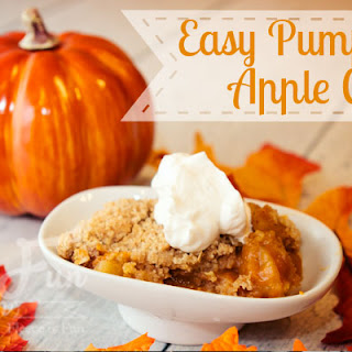 Easy Pumpkin Apple Cobbler