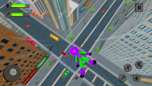 Flying Stickman Rope Hero Grand City Crime 2.0 screenshots 4