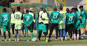 Pitso Mosimane instructs players during the Sundowns Training at Chloorkop on 06 August 2019.