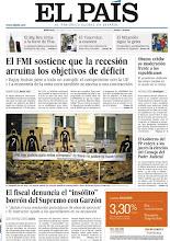 Photo: El FMI sostiene que la recesión arruina los objetivos de déficit. Consulta nuestra portada del 25 de enero. http://www.elpais.com/static/misc/portada20120125.pdf