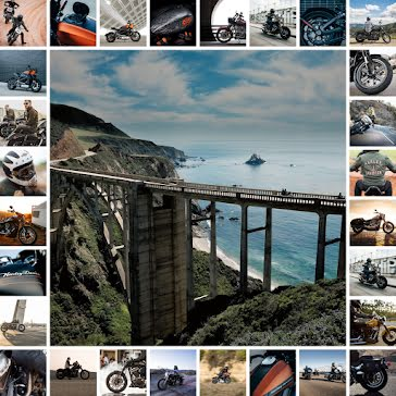 Motorcycle Collage - Instagram Carousel Ad Template