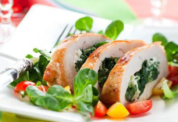 Roast Turkey Breast With Spinach Blue Cheese Stuff Recipe