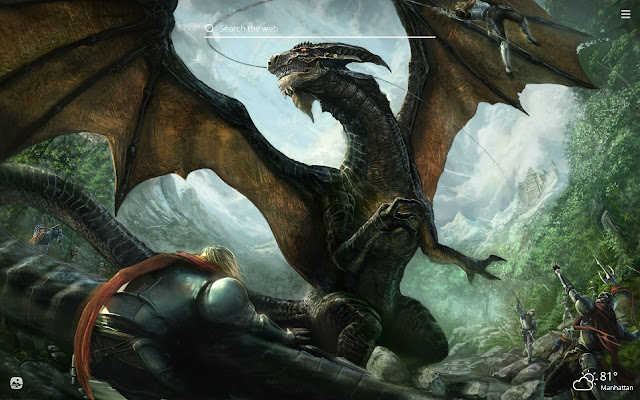Cool Dragons Hd Wallpaper New Tab Theme