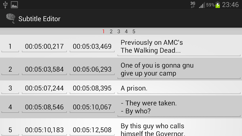Скриншот Subtitle Editor