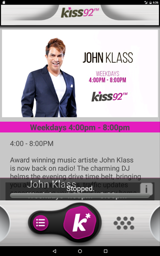Kiss 92- screenshot