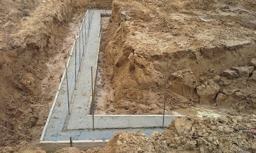 Photo: Poured Concrete with rebar 05-16-14
