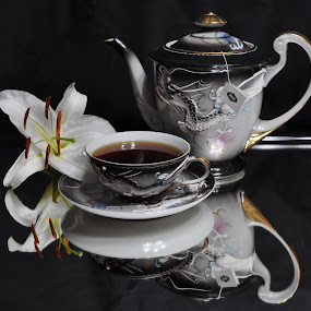 cup of tea by Debra Lynde - Artistic Objects Cups, Plates & Utensils ( teapot, cup, lily, saucer, tea, pwccups )