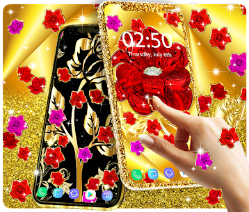 Gold rose live wallpaper Apk Download For Android 1