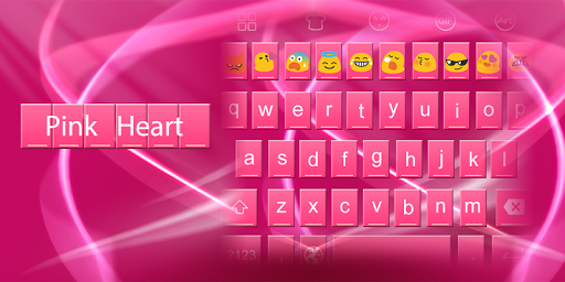 Emoji Keyboard-Pink Hearts