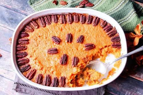"""Aunt Dianna's Bourbon Sweet Potatoes""""Was served sweet potatoes during my first Thanksgiving..."""