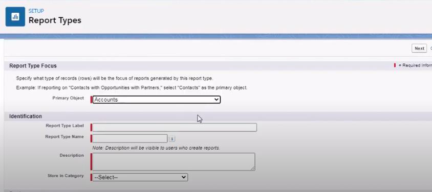 custom Salesforce report
