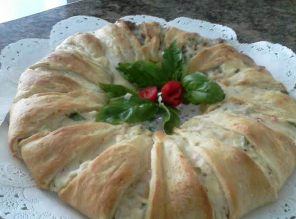 Chicken And Sausage Holiday Wreath