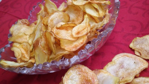 Air Fried Homemade Potato Chips