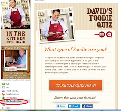 Photo: While I was there I took the Foodie Quiz to see which kind I am, any guesses?
