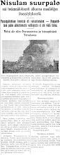 Photo: Nisulan suurpalo 11.6.1933