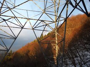 鉄塔から夕焼け