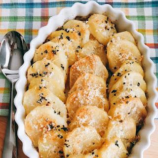 Crispy Roasted Parmesan Potatoes.