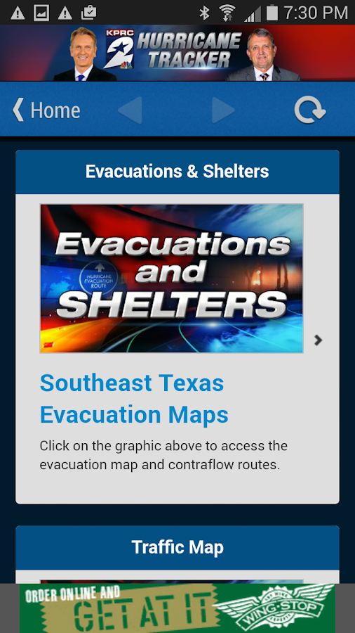 KPRC Hurricane Tracker - screenshot