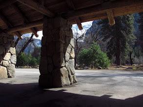 Photo: Inside a Yosemite Free Shuttle stop. #3808