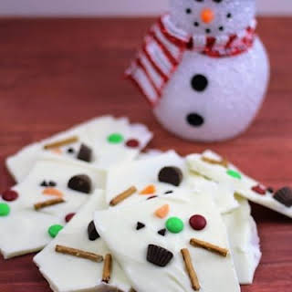 Fun and Easy Melted Snowman Bark.