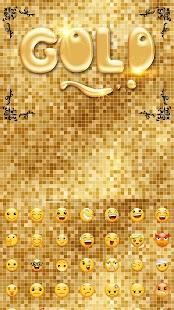 Gold Glitter Keyboard Theme - náhled