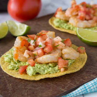 Shrimp & Avocado Tostadas.