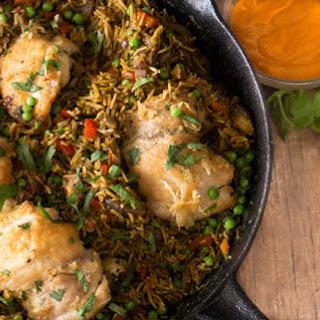 Peruvian Chicken and Rice.