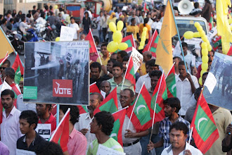 Photo: Peaceful parade in Male' on Interntaional Day Against Police Brutality