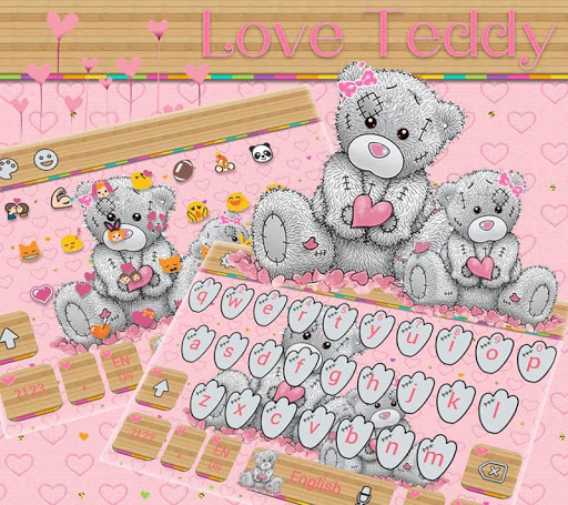 Teddy Bear Keyboard Theme Cute Bear in love 10001002 screenshots 8