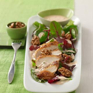 Karamellisierter Hühner-Blattsalat