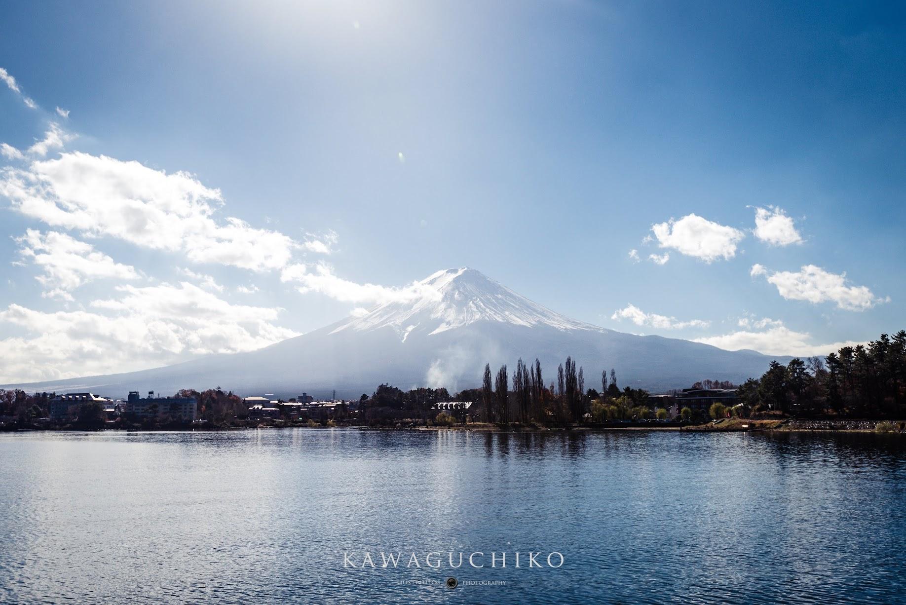 河口湖遊覽船可以從湖面上近距離眺望富士山的美麗。