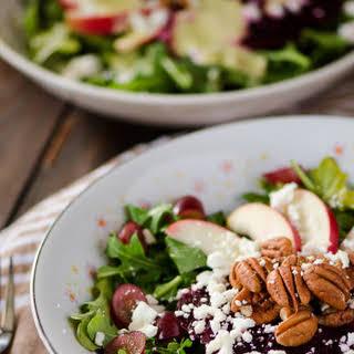 Crunchy Beet & Arugula Salad #SundaySupper.