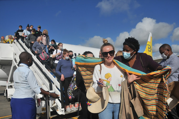 Ukraine tourists arrive in Mombasa for holiday/