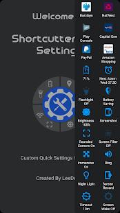 Shortcutter Quick Settings Screenshot