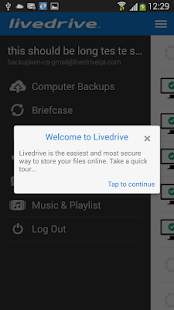 Livedrive Mobile - screenshot thumbnail