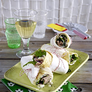 Tortilla Wraps with Tuna.