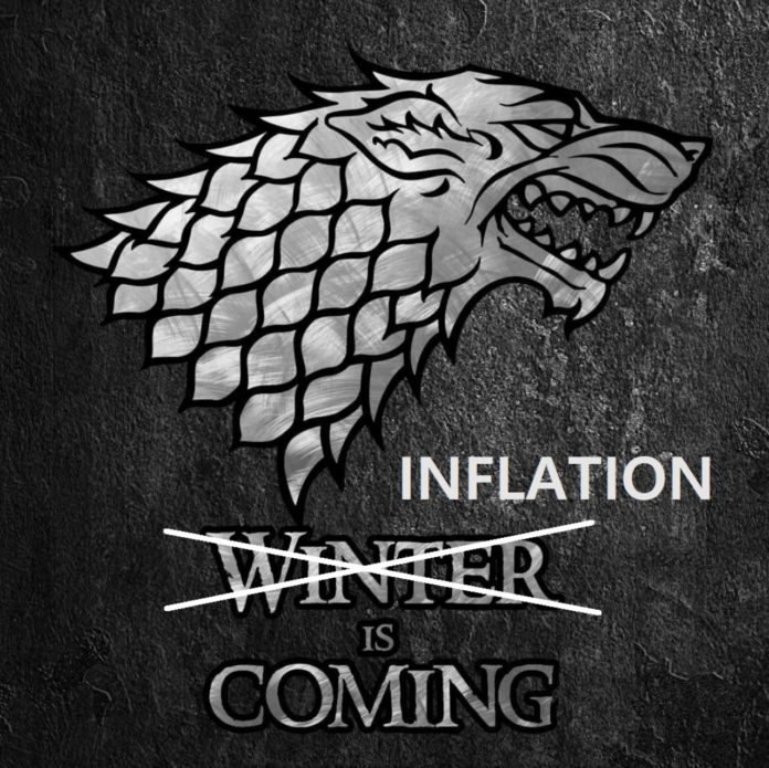 Inflação esta chegando