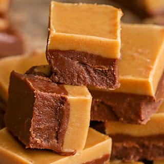 Easy Chocolate Peanut Butter Fudge.